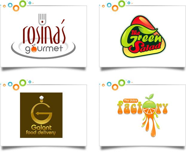 Food Beverage Logo Design Portfolio : Custom Logo Designs